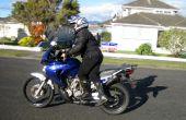 Cómo montar una moto alto si usted es corto.