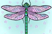 Cómo dibujar una libélula