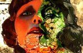 Tarjeta de niña Zombie Art Deco