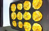 Huevo, jamón y queso desayuno magdalenas (gluten libre o regular)