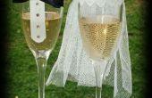 Novia y novio boda decorativos vasos
