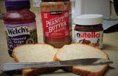El mejorado de mantequilla de maní y jalea Sandwich