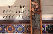 DIY reclamado madera cartel Vintage (inspirado por)