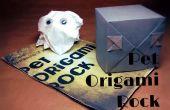 Manual y Origami roca del animal doméstico