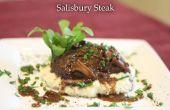 No de la señora de su almuerzo Salisbury Steak