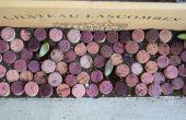 Bordes de jardín de corcho de vino