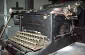 Restaurando una máquina de escribir de 1937