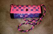 Color de rosa, púrpura y Tye-Dye conducto cinta monedero