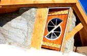 Puerta de madera casera para la cubierta del Patio superior
