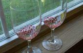 Adorable pintado copas de vino