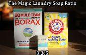 Detergente de lavandería por números