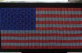 Bandera de los E.e.u.u. hecho con LED difusa
