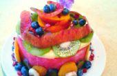 Pastel de sandía fruta y un pequeño extra en el final