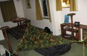 Tienda de hamaca asimétrica DIY con lona (carpa hamaca casera)