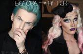 Antes y después: chico chica Drag Queen transformación