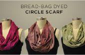 Bolsa de pan teñida círculo bufanda