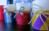 Velas de Navidad DIY