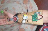 Pistola de bobina montada Spiderman web shooter muñeca