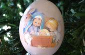 Adornos de Navidad escena huevo