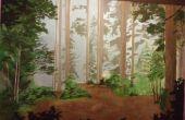 Mural bosque DIY