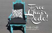 Rehacer de silla Throne Reina estilo vintage!