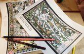 Libro para colorear medieval