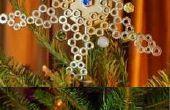 Hexagonal Tuerca árbol Topper y ornamentos