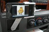 Rotación montaje de coche para iPhone fuera electrónica reciclados y basura del garaje