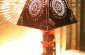 Lámpara de madera de desecho