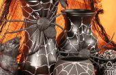 Halloween Spider Web jarrones