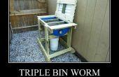 Triple compostador Bin Worm - humus de lombriz