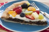 Pizza de frutas chocolate