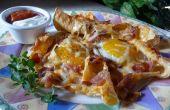 Asoleado-lado-para arriba desayuno Nachos