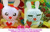 Cómo hacer Origami 3D Cony conejo