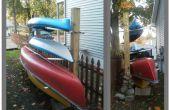 Kayak/canoa Rack + almacenamiento madera