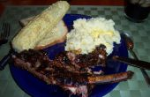 Deliciosa barbacoa: Caen las costillas de carne de hueso