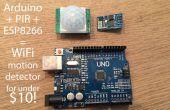 $10 Arduino WiFi detector de movimiento (PIR) que escribe a SQL mediante módulo ESP8266 barato