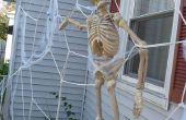 Decoración de la casa del gigante tela de araña para Halloween!