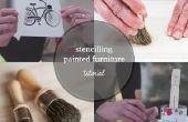 Cómo utilizar una plantilla en muebles pintados
