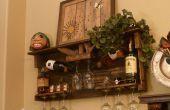 Botellero madera plataforma y estante de licores