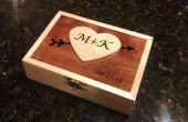 Día de San Valentín caja de madera