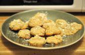 Almendra galletas de pastel de semillas de amapola