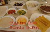 Buffet de Burrito de arroz cilantro: DIY Chipotle