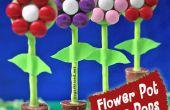 Cómo hacer pastel de pote de flor aparece