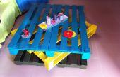 Salón de mesa de paletas de madera