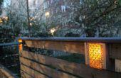 Construido en la baja tensión iluminación la cerca