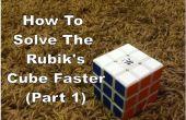 Cómo resolver el cubo de Rubiks más rápido (parte 1)