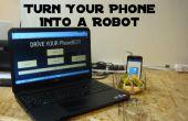 Apague el teléfono en un Robot