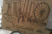 Singapur Solar quemadura arte