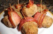 Mini rollos de carne tocino envuelto